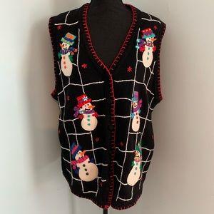 B.P. Design Snowman Sweater vest Ugly Christmas